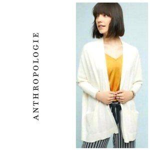 ANTHRO MOTH Cotton/Cashmere Cream Boho Cardigan